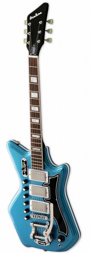 Eastwood Airline 59 Custom 3p Dlx Metallic Blue + Etui
