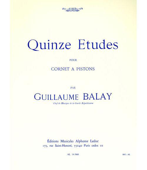 Balay G. - 15 Etudes - Cornet
