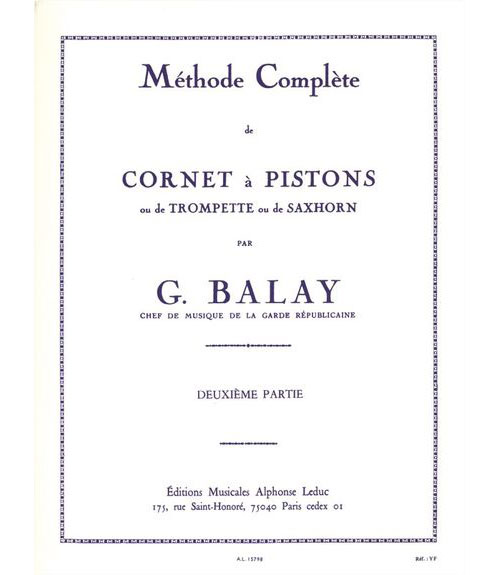 Balay - Methode Complete De Cornet A Pistons Vol.2