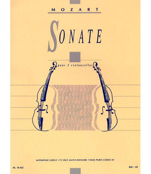 Mozart/bazelaire - Sonate - 2 Violoncelles (ou 2 Bassons)