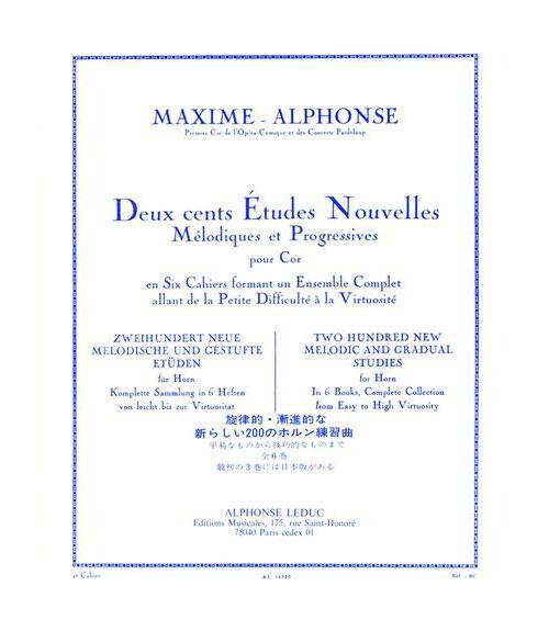Maxime-alphonse - 200 Etudes Nouvelles Vol.2 - Cor