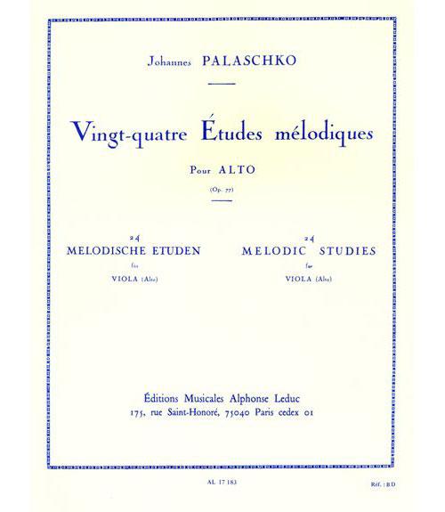 Palaschko - 24 Etudes Melodiques - Alto