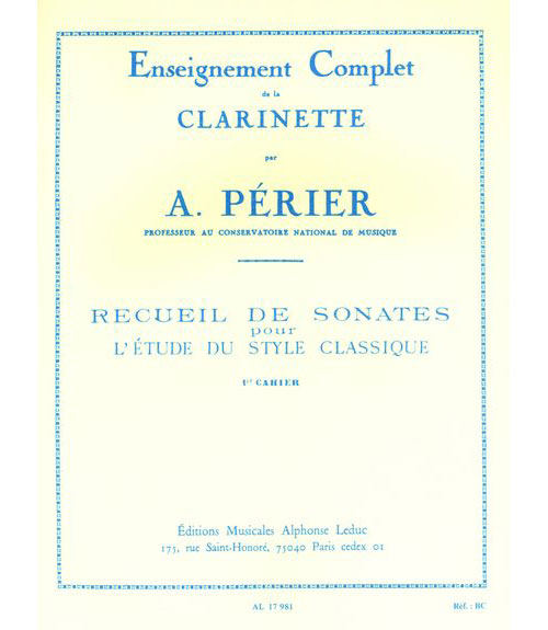 Perier A. - Perier - Recueil De Sonates Vol.1