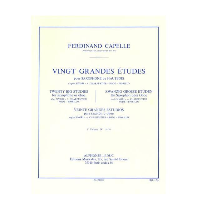 Capelle Ferdinand - 20 Grandes Etudes Vol.1 (saxophone Ou Hautbois)