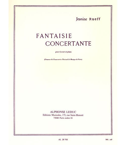 Rueff Jeanine - Fantaisie Concertante - Cornet Et Piano