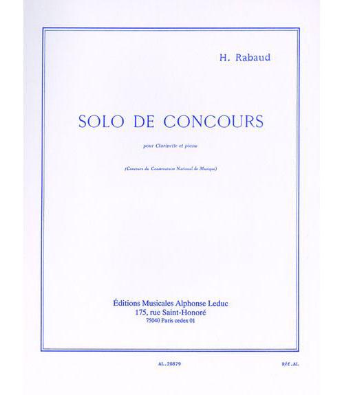 Rabaud H. - Solo De Concours