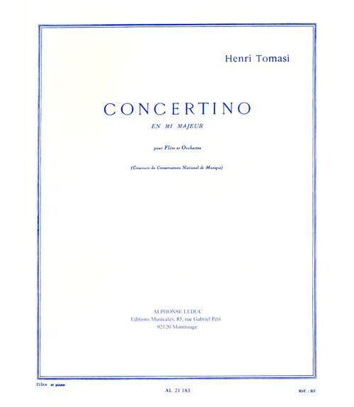 Tomasi Henri - Concertino En Mib Majeur - Flute and Piano