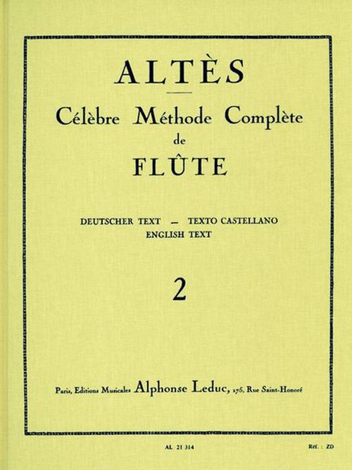 Altes - Methode De Flute Traversiere Vol. 2