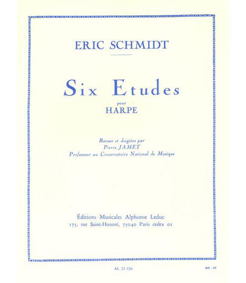 Schmidt Eric - Six Etudes Pour Harpe