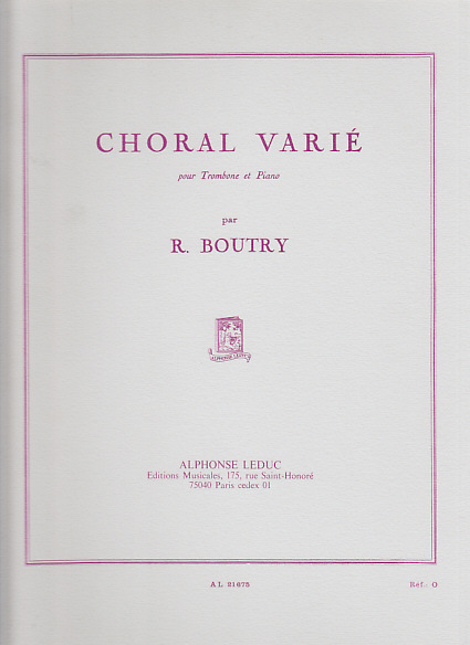 Boutry Roger - Choral Varie