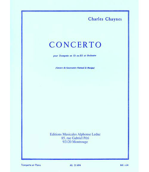 Chaynes Charles - Concerto - Trompette and Piano