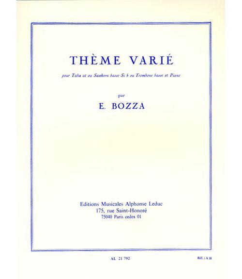 Bozza E. - Theme Varie - Tuba and Piano