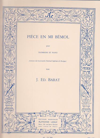 Barat - Piece En Mi Bemol Pour Trombone & Piano