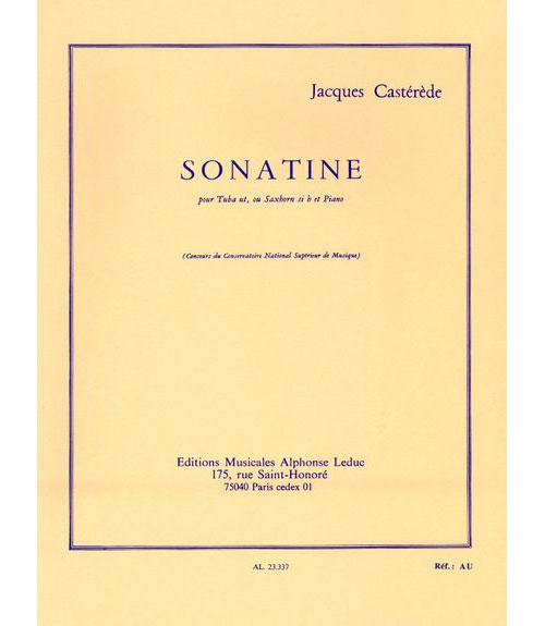 Casterede J. - Sonatine - Tuba Ut Ou Saxhorn Sib Et Piano