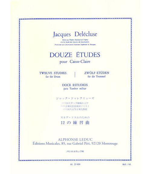 Delecluse Jacques - 12 Etudes Pour Caisse-claire