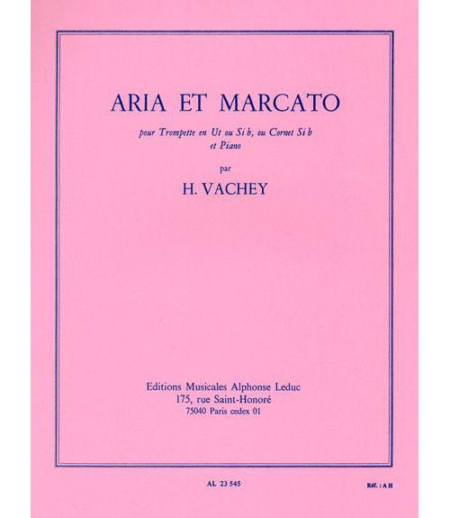 Vachey Henri - Aria Et Marcato - Trompette and Piano