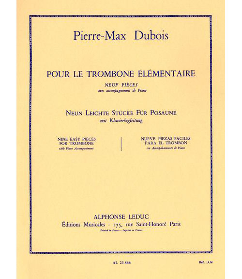 Dubois Pierre Max - Pour Le Trombone Elementaire