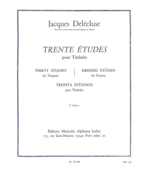Delecluse J. - 30 Etudes Vol.3 - Timbales