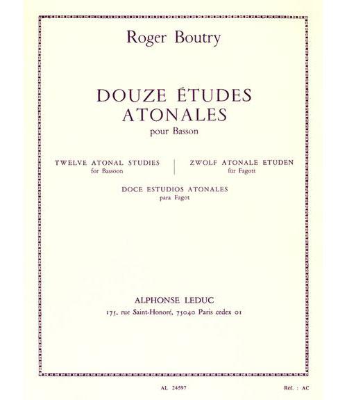 Boutry Roger - 12 Etudes Atonales Pour Basson