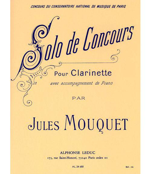 Mouquet Jules - Solo De Concours - Clarinette and Piano