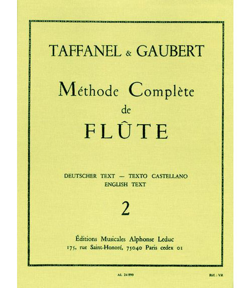 Gaubert / Taffanel - Methode De Flute Traversiere Vol. 2