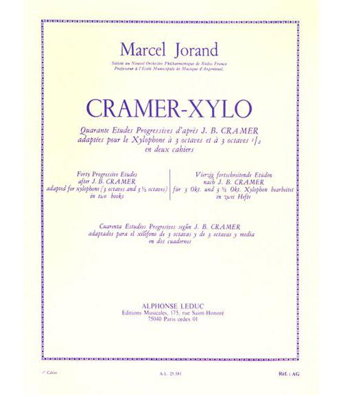 Jorand M. - 40 Etudes D'apres Cramer Vol. 1 - Xylophone