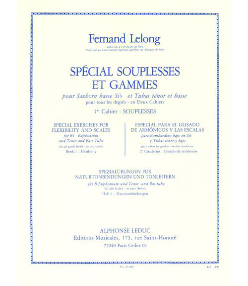 Lelong F. - Special Souplesses Et Gammes Vol.1 - Tuba