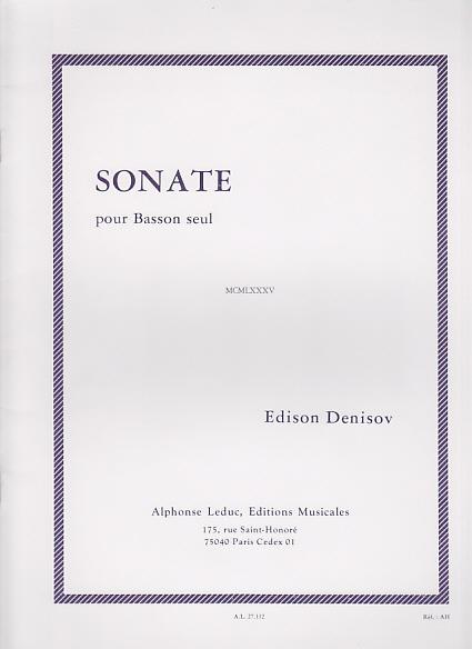 Denisov Edison - Sonate