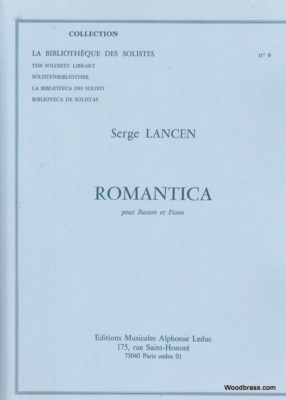 Lancen S. - Romantica - Basson Et Piano