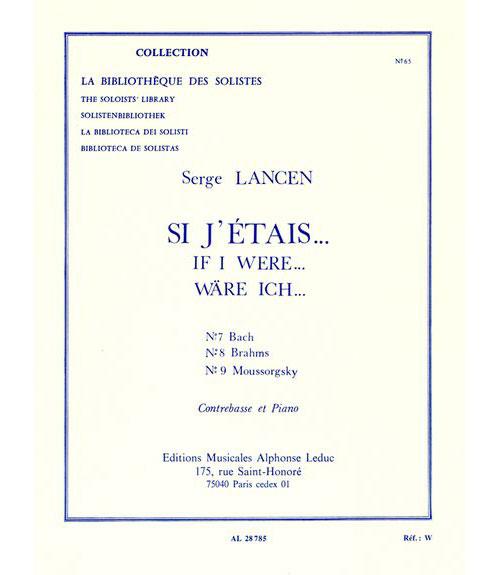 Lancen Serge - Si J'etais... - Contrebasse and Piano