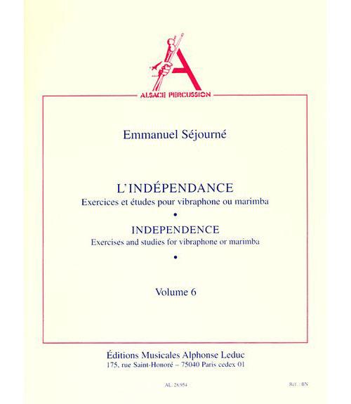 Independance Pour Vibraphone Ou Marimba (vol. 6)