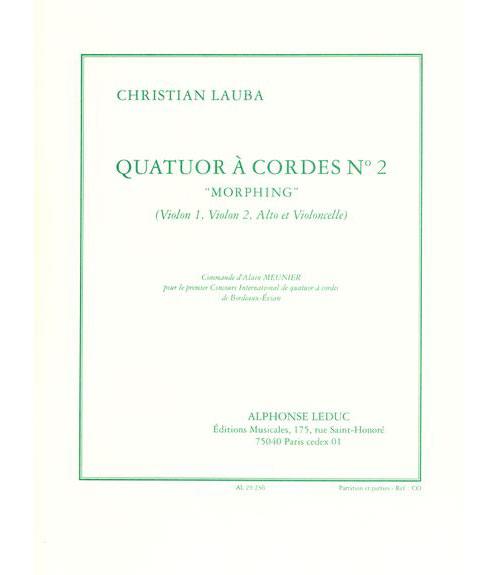 Lauba Christian - Quatuor A Cordes N°2 Morphing