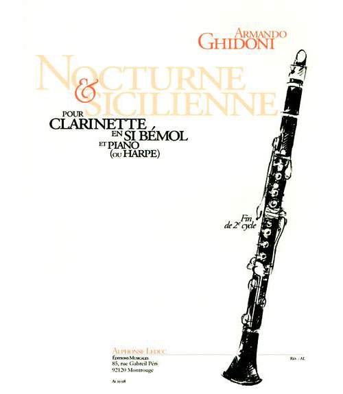 Ghidoni Armando - Nocturne and Sicilienne - Clarinette Sib and Piano
