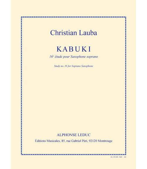 Lauba Ch. - Kabuki - 16e Etude Pour Saxophone Soprano