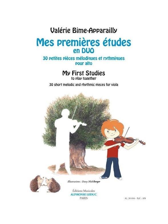 Bime-apparailly Valerie - Mes Premieres Etudes En Duo Pour Alto