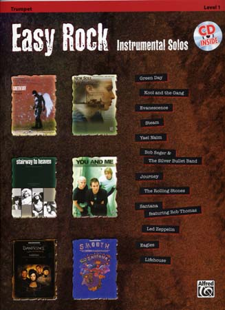 EASY ROCK INSTRUMENTAL SOLOS + CD - TRUMPET