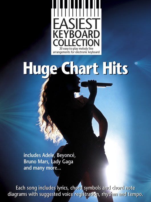 EASIEST KBD COL HUGE CHART HITS KBD - MELODY LINE, LYRICS AND CHORDS
