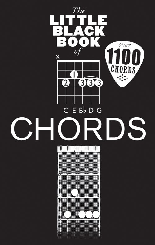 THE LITTLE BLACK BOOK OF CHORDS - GUITAR