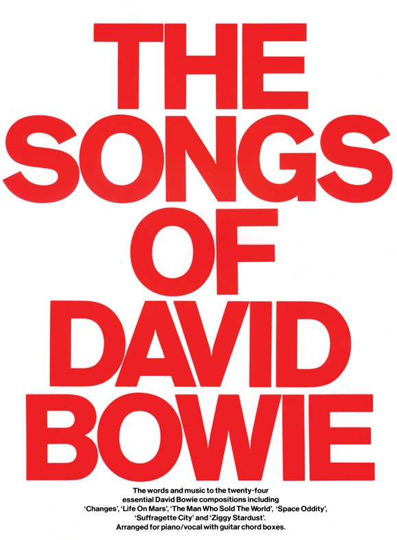 DAVID BOWIE - THE SONGS OF DAVID BOWIE - PVG