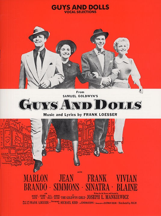 LOESSER FRANK - VOCAL SELECTIONS FROM GUYS AND DOLLS-MUSIC- PVG