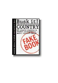 Busk It! - Country - Melody Line, Lyrics And Chords