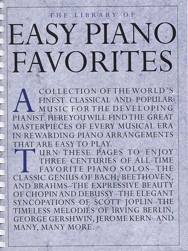 LIBRARY OF EASY PIANO FAVORITES