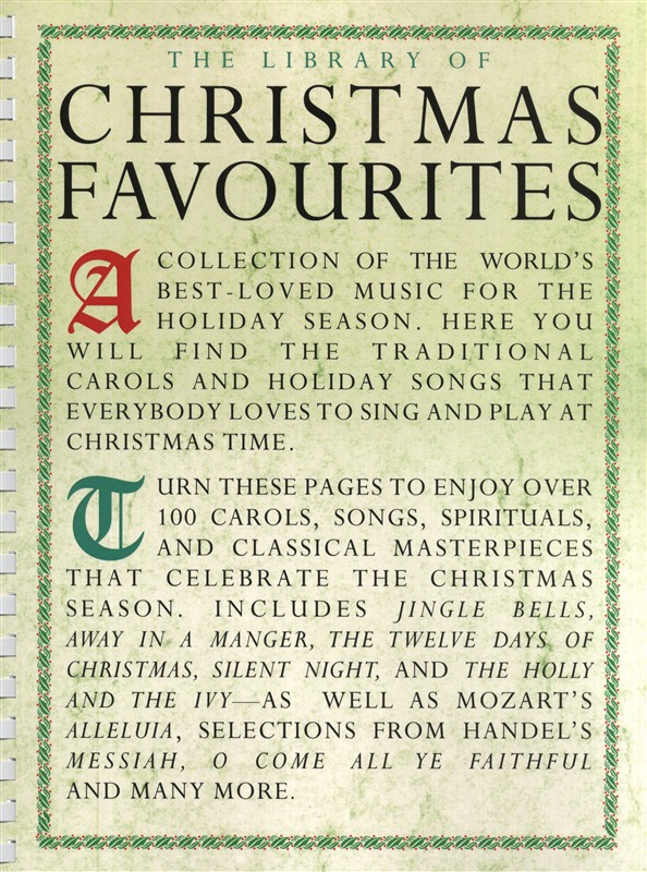 The Library Of Christmas Favourites - Pvg
