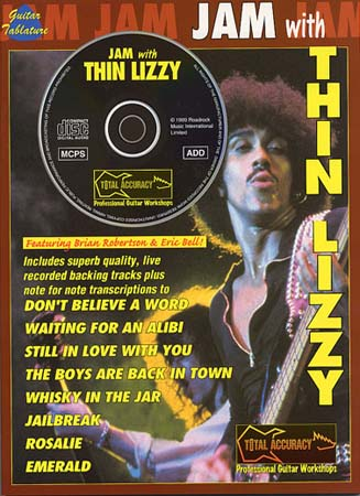 THIN LIZZY - JAM WITH + CD - GUITAR TAB