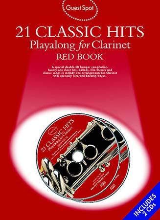 GUEST SPOT - 21 CLASSIC HITS - RED BOOK + 2 CD - CLARINETTE