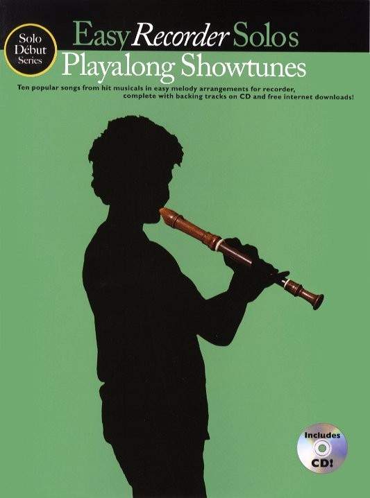 SOLO DEBUT PLAYALONG SHOWTUNES EASY RECORDER SOLOS + CD - RECORDER