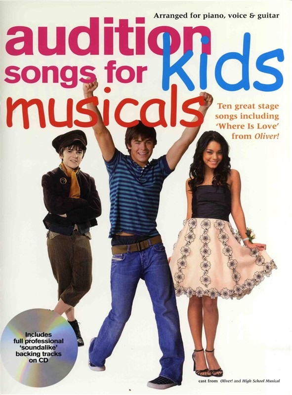 Audition Songs For Kids Musicals + Cd - Pvg