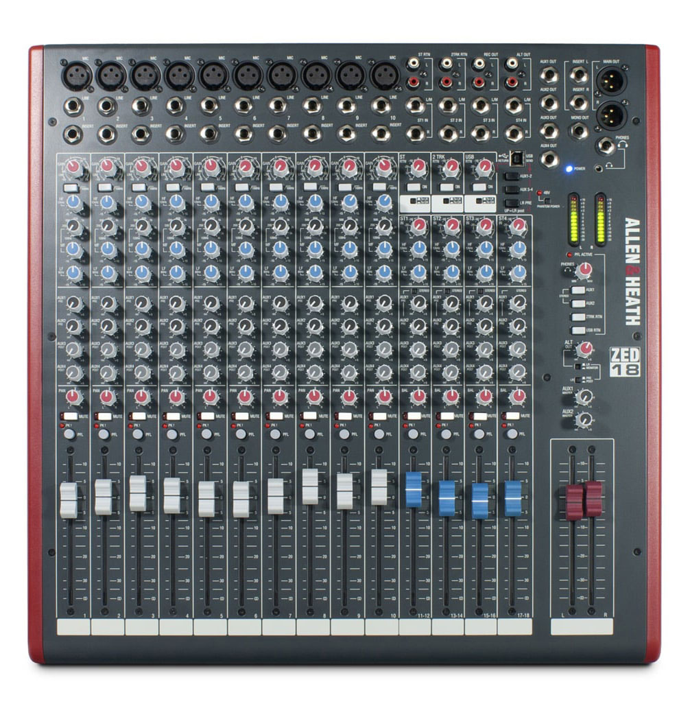 Allen Heath Zed 24 24 Channel Mixer With Usb Interface