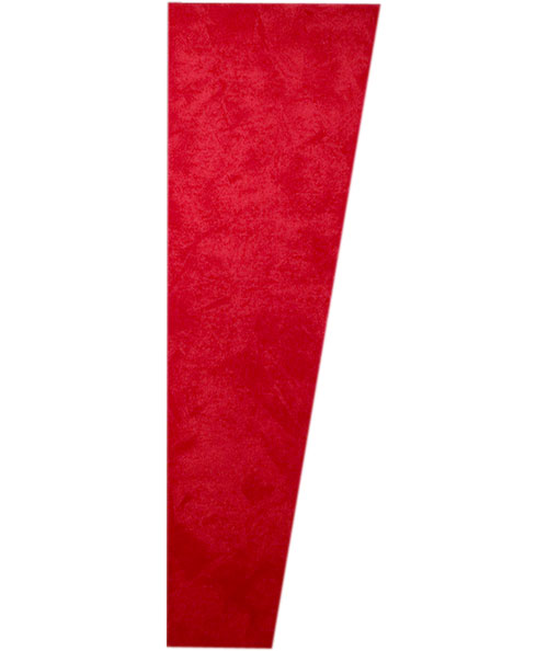 SONOSUEDE TRAPEZOID PANEL RED RIGHT