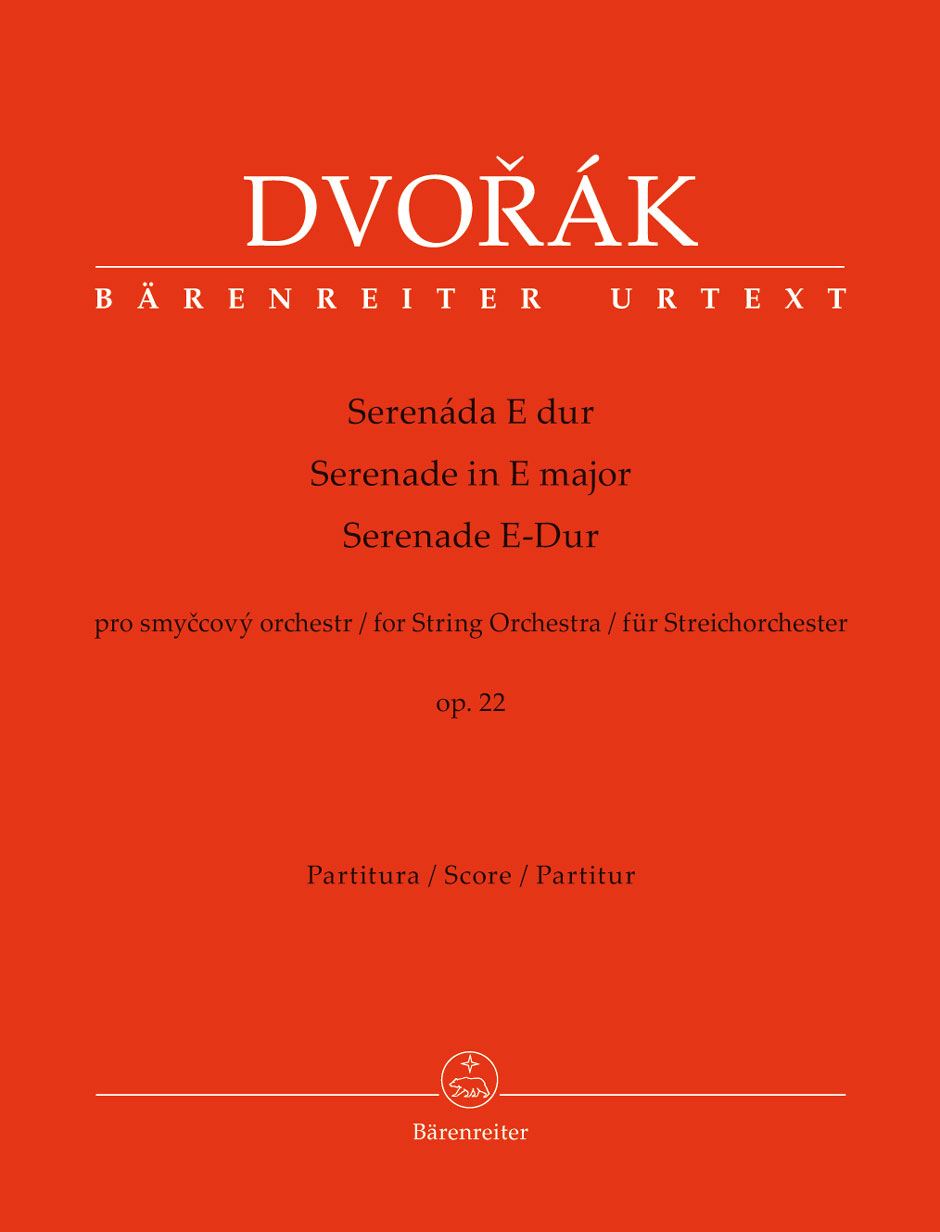 DVORAK A. - SERENADE IN E MAJOR OP.22 FOR STRING ORCHESTRA - SCORE